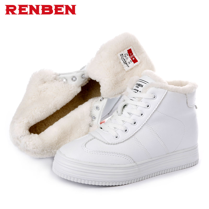 Hot sale !!! Women winter boots Plus Thick fur warm snow boots High Quality lace up ankle boots female winter shoes