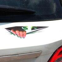 3D Stereoscopic Eye Peep Pattern Car Body Sticker Window Door Waterproof Decor 2