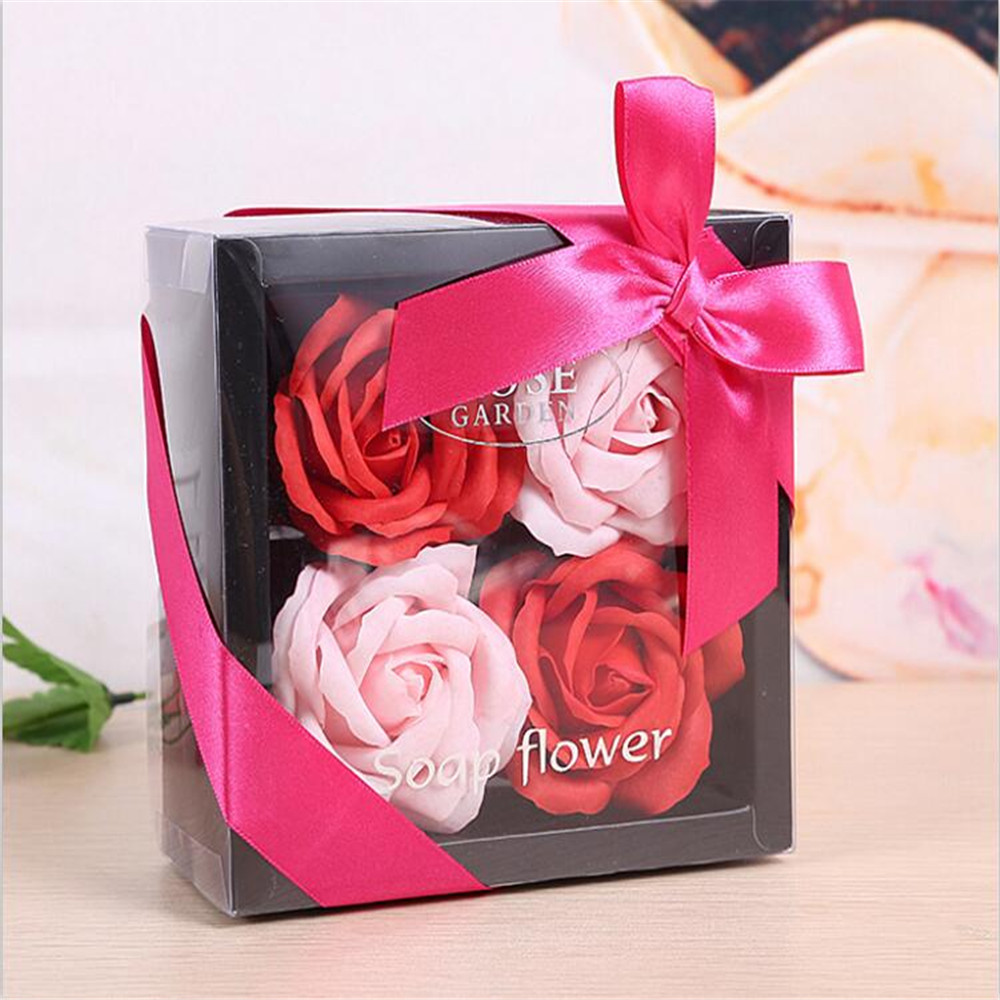 Artificial Flowers Rose Soap Flower Valentine\'s Day Gift for ...
