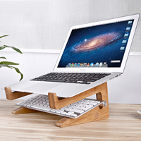 Splicing New Wooden Laptop Stand Holder Notebook Cooler Cooling Portable Wood Support For Laptop