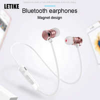 Letike WP X3 Bluetooth Earphone With Mic Wireless Headset Magnetic Design Sweat Proof Sport Stereo Running