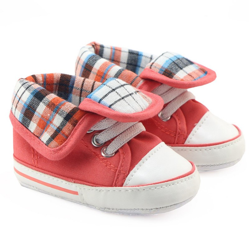 New Toddler Pre walker Sport Shoes Red Infant Crib Shoes ...