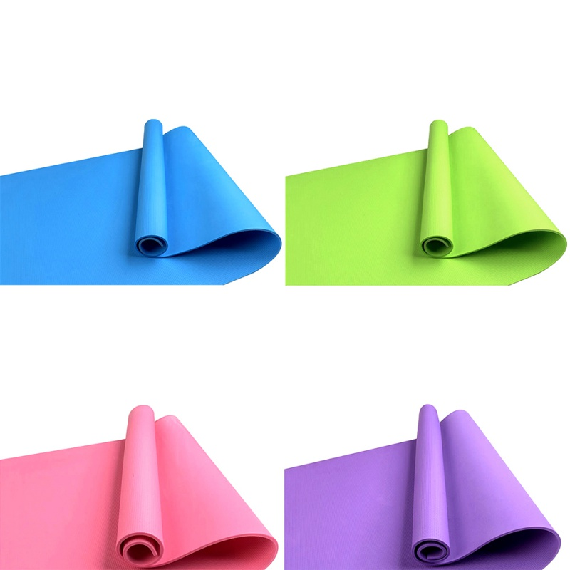*4MM Exercise Yoga Pad Mat Non Slip Durable Pilates Fitness Workout Gym Meditation Cushion Natural Rubber Thick Lose Weight Pad