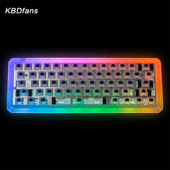 KBDfans 5 deg Transparent Frosted acrylic CNC 60% case - DISCOUNT ITEM  0% OFF All Category