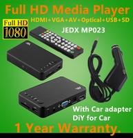 Full HD 1080P Car Media Player HDMI AV Output 3D HD TV SD MMC Card Reader