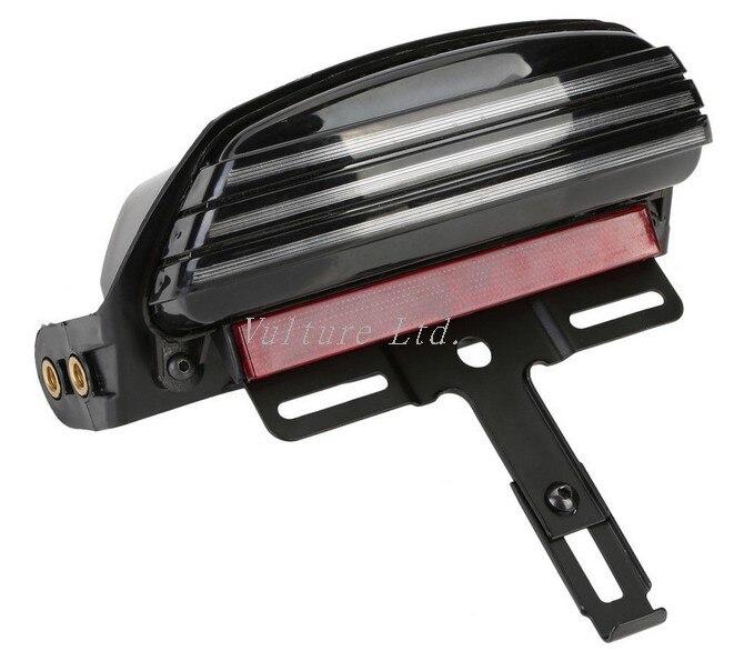 ФОТО Tri-Bar Fender LED Tail Light +Bracket For Harley Softail FXST FXSTB FXSTC