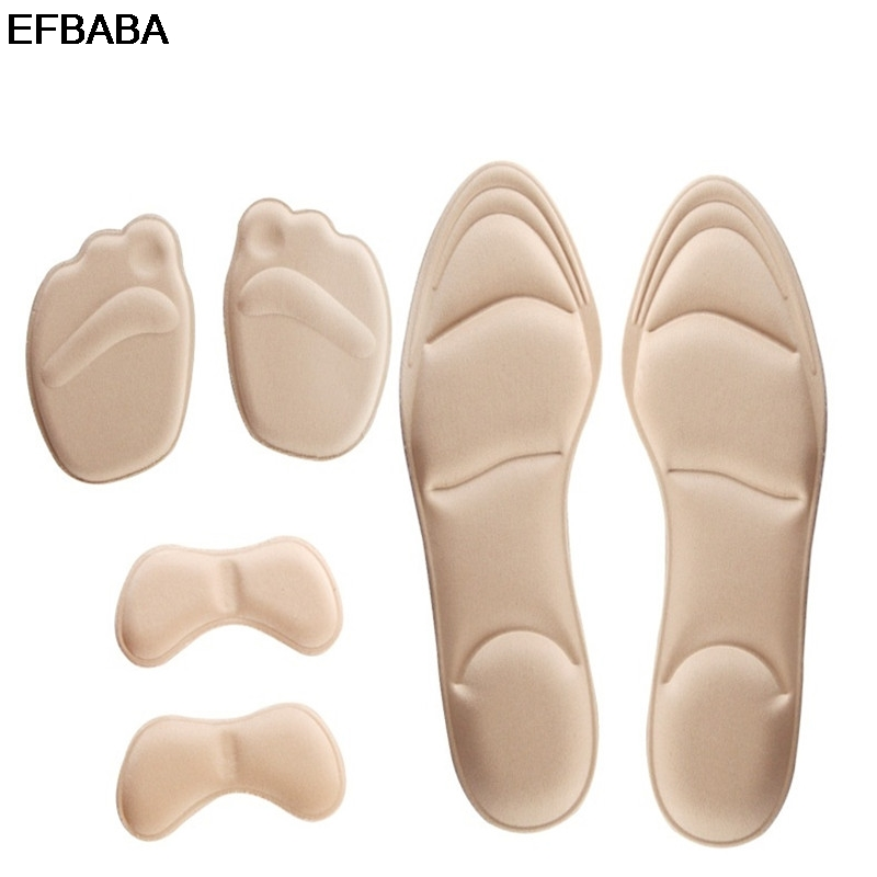 EFBABA High Heel Pad Memory Foam Shoes Insoles Breathable Shoes Pad Shock Absorbing Insoles Heel Pads Inserts Shoes Accessoires