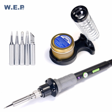 WEP 947-V 60W Electric Soldering Iron 220V 110V 3 Lamps Temperature Adjustable Welding Solder Iron Rework Soldering iron Tool цена в Москве и Питере