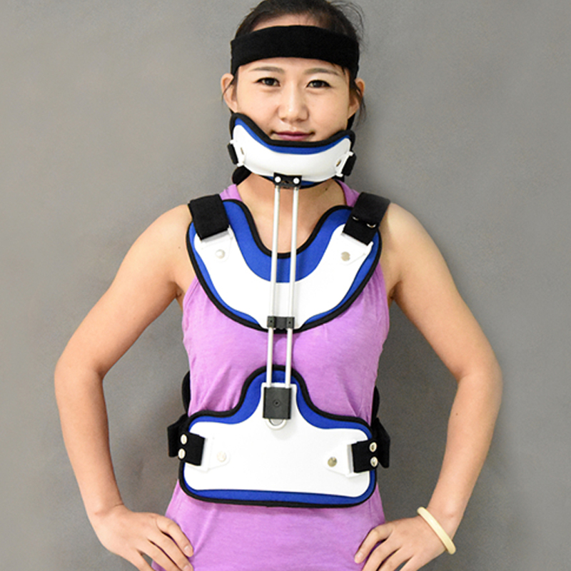 Adult Head Neck support Orthosis orthopedic Cervical Thoracic Stent Fracture Fixation Rehabilitation Brace Cervical Traction