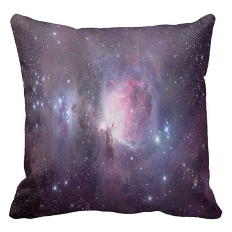 1PC Quality Material Starry sky pillow case 3D Ultimate Universe Stars The Milky Way Printed Suede Cushion Pillow Set on sale