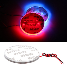 Car LED Logo font b Lamp b font Auto Lights Decals Stickers Car Styling Red White