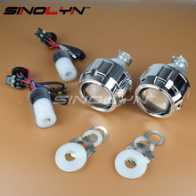 SINOLYN HID Мини 2.5 дюйм(ов) H1 Bi xenon Объектив Проектора H4 H7 лампы Silver/Black Кожухи Фар Линзы Стайлинга Автомобилей WST