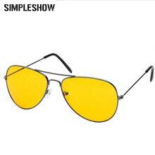 SIMPLESHOW очки ночного видения мужские солнцезащитные очки для вождения женские очки Желтые красные линзы антибликовые очки унисекс UV400