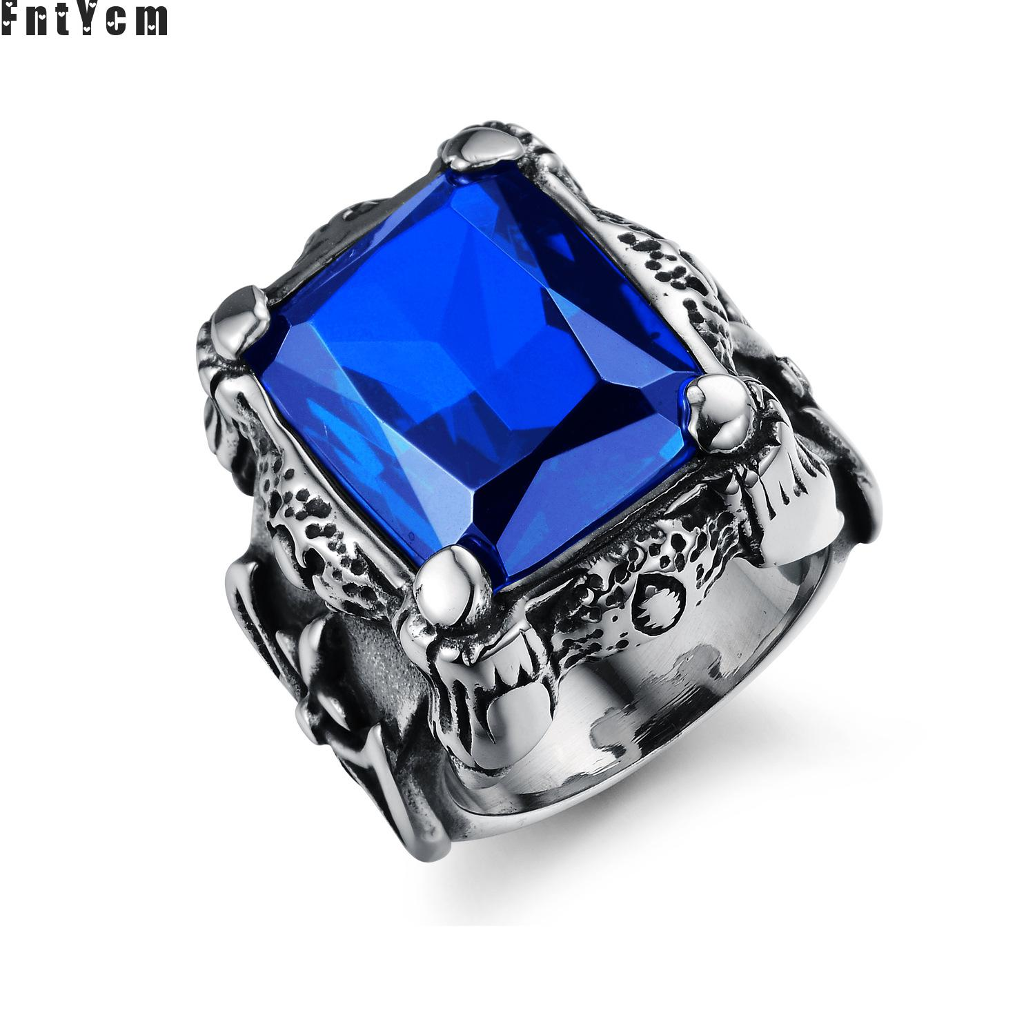 Special counter Very domineering natural stone cabochons thomas sabor jewelry turkish supernatural ring men anillo de overlord