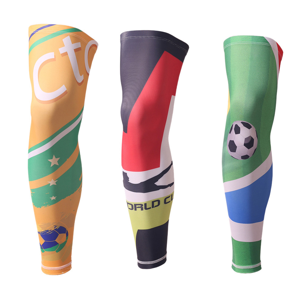 Printed Basketball knee Pads Men Sport Safety Outdoor Calf Leg Sleeve Guard Support Football knee Protector