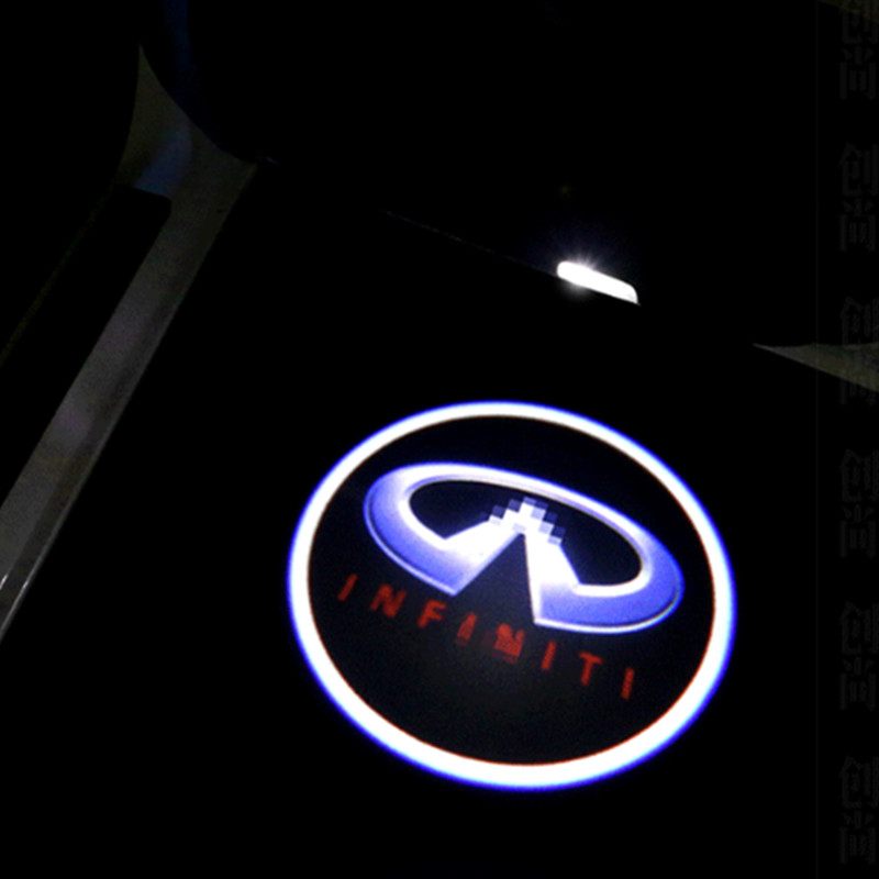 Car door light ghost shadow welcome light logo projector emblem For Infiniti fx37 f50 g35 g37 qx50 qx70 qx80 q50 q60 q70 ex35