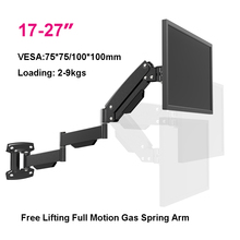 "BL LG312B במיוחד ארוך גז אביב זרוע קיר הר בעל צג מלא תנועה כבד החובה 17 27 ""LCD טלוויזיה הר סוגר טעינת 2 9kgs"