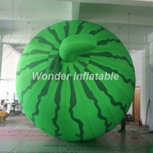 2018 hot sale giant inflatable watermelon fruit vegetable balloon for advertising