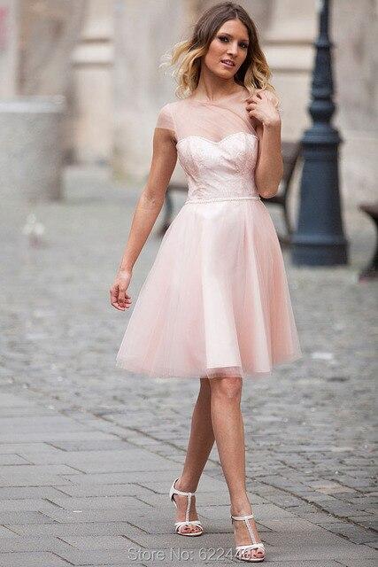 Kurze Party Kleider 2016 Kurze Ärmel Prom Kleider vestido de ...
