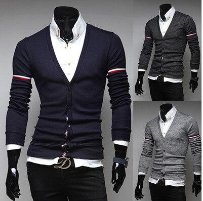 2017 de La Moda de Primavera Casual suéteres Para Hombre