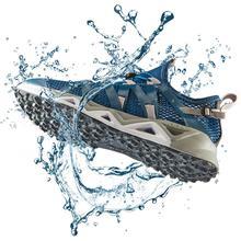 Rax masculino aqua upstreams sapatos de pesca respiráveis de secagem rápida sapatos femininos buraco pu palmilha antiderrapante água sapatos 82 5k463