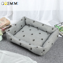 Dog Beds Mats Comfort Print Crown Puppy Pet Mat Bed Warm Cotton Cat For Chihuahua Dogs 2019
