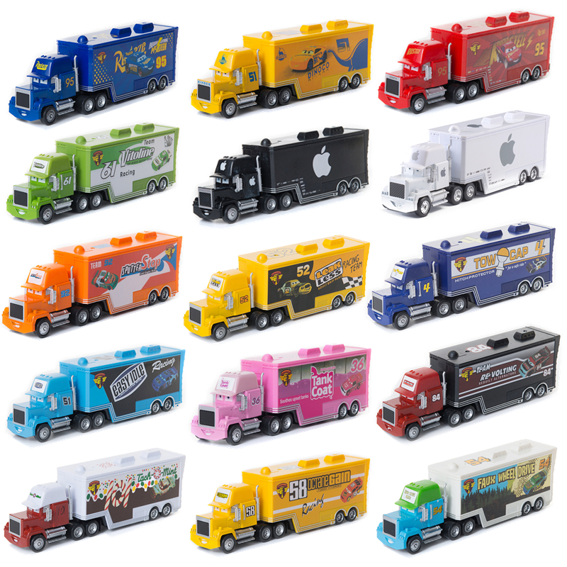 Disney Pixar Cars 2 3 Toys Mack Uncle Truck Collection Lightning McQueen Jackson Storm 1:55 Diecast Model Car Toy For Kids Gifts