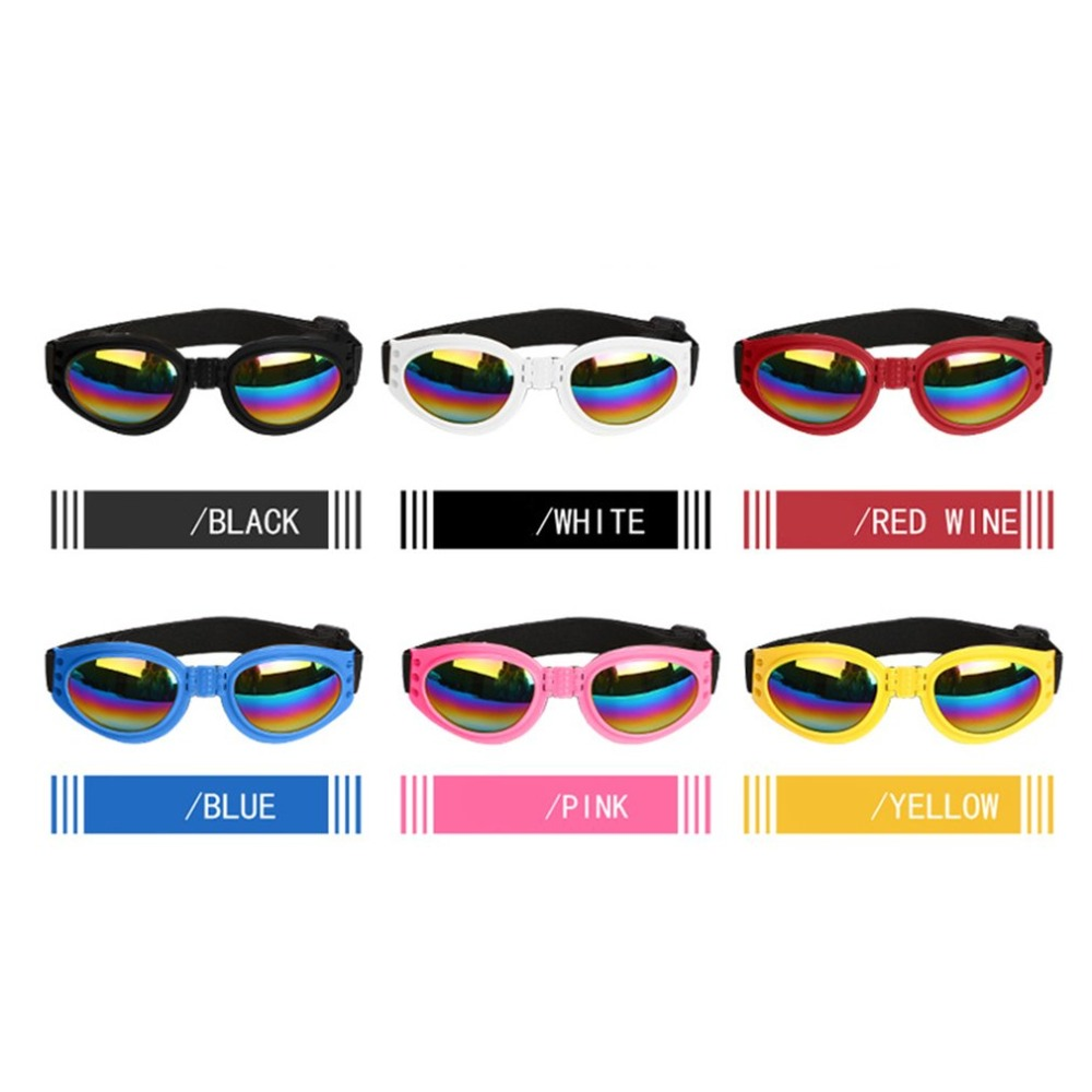 Fashionable Dogs Sunglasses Windproof Pet Goggles Eye Wear UV Protect Sun-resistant Dog Sunglasses Accessories