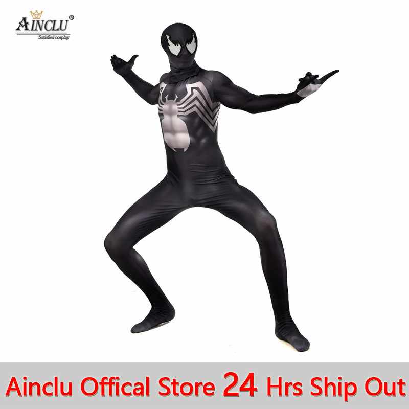 Adult Kid Venom Superhero Cosplay Costume Jumpsuit Fancy Dress Party Zentai Suit