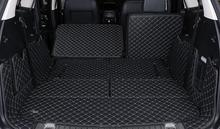 Black Cargo Liner Car Trunk Mat For Ford Edge 2015 Carpet Interior Floor Mats Leather Pad Car-Styling