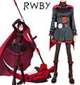 Free Shipping RWBY Season 1 Red Trailer Ruby Rose Black Gothic Dress Anime Cosplay Costume