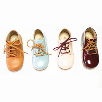 Sentez Deri Çocuk Botları Kızlar Martin çizmeler Dantel-up kaymaz Çocuk ayakkabı erkek botları