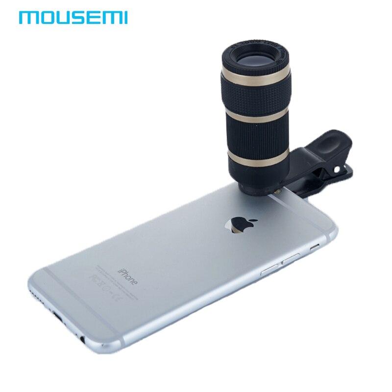 MOUSEMI Universal Clip 8x Zoom Telescope <font><b>Lens</b></font> For <font><b>iPhone</b></font> 7 6 5 <font><b>Camera</b></font> Mobile Phone <font><b>Lens</b></font> Smartphone Lente <font><b>Lenses</b></font> for xiaomi redmi