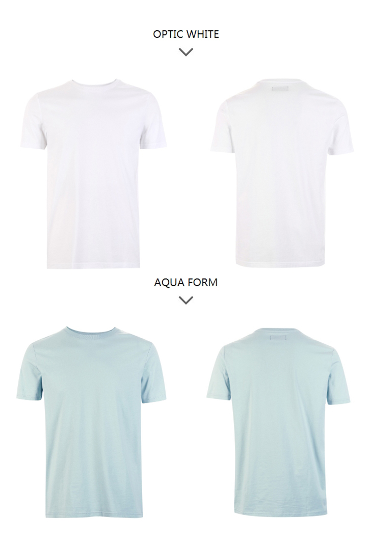 Men's Summer 100% Cotton Pure Color Round Neckline Short-sleeved T-shirt 70