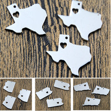 5 pcs/lot US etat carte charme ton argent Arizona Texas New hampshire floride Alaska Utah caroline du nord Nevada Connectut ......(China)