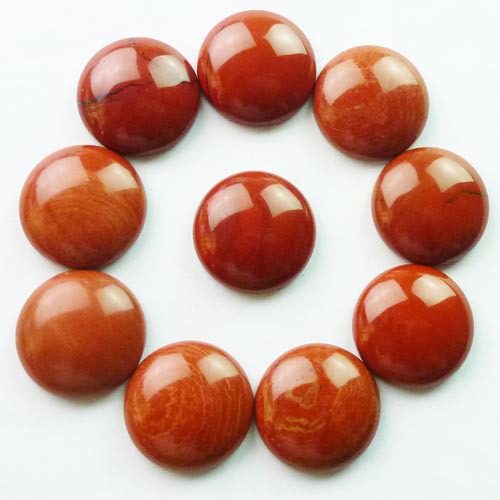 (Min.order 10$ mix) Free shipping (10 Pieces/lot) Wholesale Red Jaspers Round CAB CABOCHON 20mm
