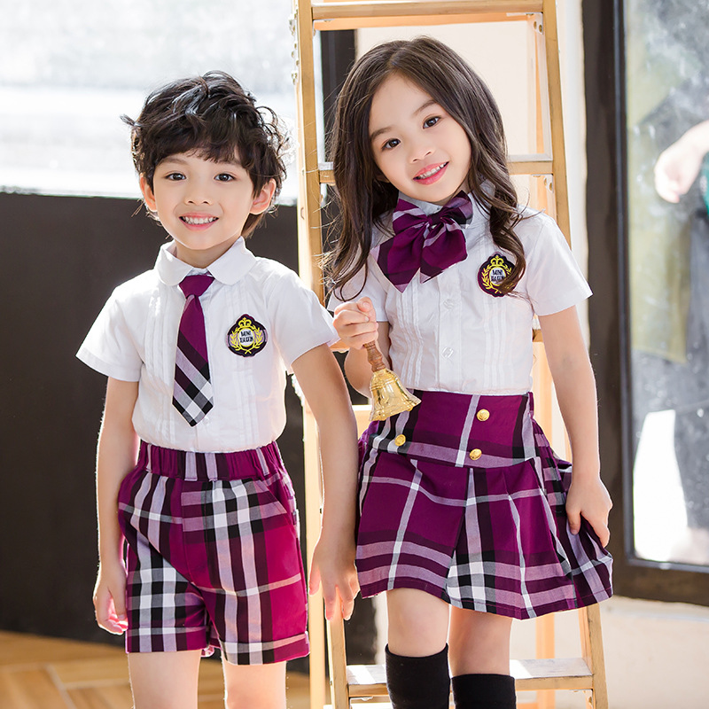 <font><b>Baby</b></font> Girl Summer Clothes Plaid Skirt+<font><b>tshirt</b></font> Blouse Boys Clothing <font><b>Sets</b></font> Girls Boutique Outfits for Age 3 4 6 12 14 Years Old image