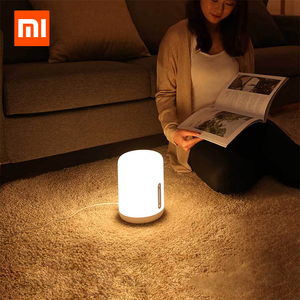 Image 1 - Xiaomi Mijia Bedside Lamp 2 Xiaoai Clock Smart LED Bedroom Night Colorful Desk Light Voice Control Switch for Homekit Mihome APP