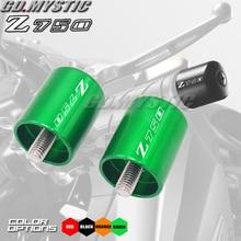 Аксессуары для мотоциклов с ЧПУ Ручки Бар заканчивается Кепки слайд для KAWASAKI Z750 (не Z750S модель) 2007-2012