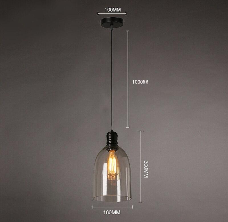 Luzes pingente de ferro do vintage vidro branco pendurado sino pingente lâmpada e27 110 v 220 v para sala jantar decoração casa planetário hm41 - 4