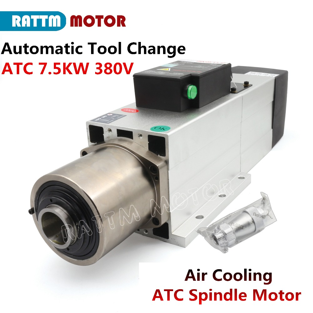 7.5KW ISO30 ATC Automatic Tool Change Air Cooling Spindle Motor 800Hz 380V 4Pole