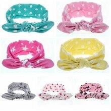 Yundfly New Fashion Children Cute Dot Heart Star Cotton Newborn Bow Headband Elastic Girls Headwraps Hair Accessories Headdress