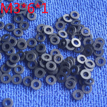 M3*6*1 Black 100pcs Nylon Washer Plastic Flat Spacer Washer Thickness circular  round Gasket Ring High Quality circular m6 12 1 2 white 100pcs nylon washer plastic flat spacer washer thickness circular round gasket ring high quality circular