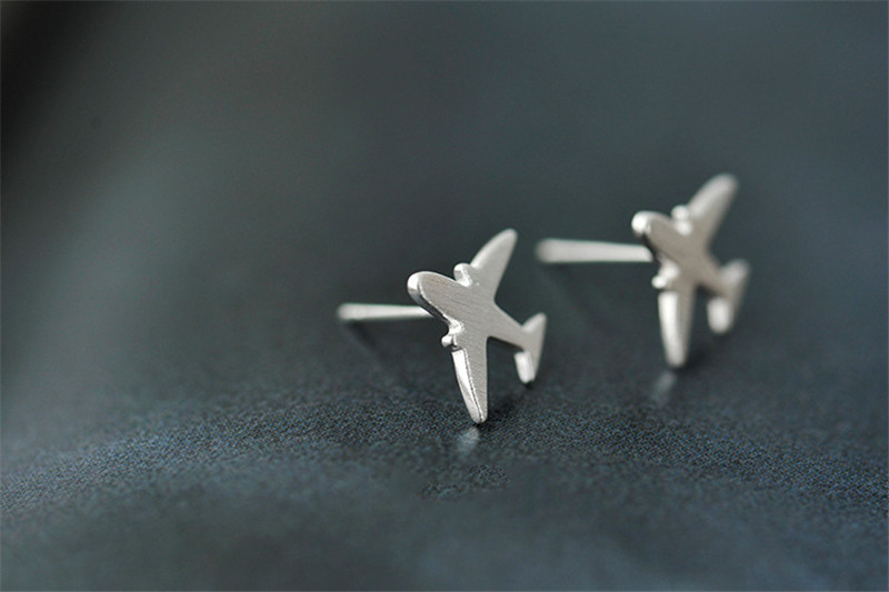 5291d6c44 Real 925 Sterling Silver Aircraft Airplane Plane Stud Earrings Women's  Handmade Pure Silver Jewelry 2017 New CYG002 Import duty: Taxes and charges  are not ...
