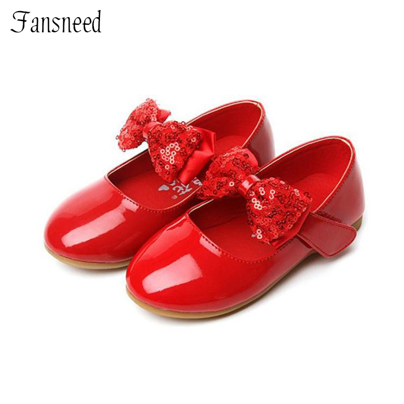 2015 spring and autumn children leather single flower shoes