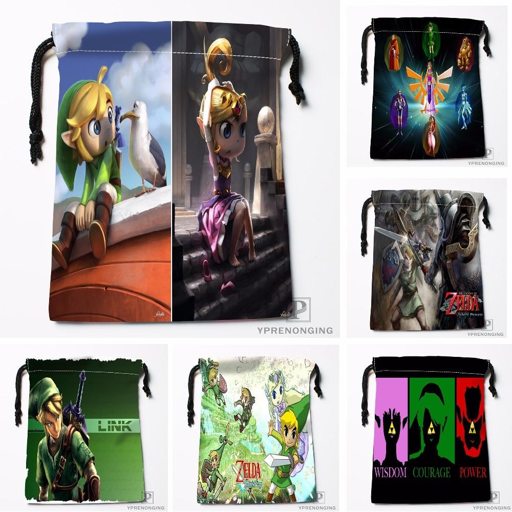 Custom The Legend Of Zelda Drawstring Bags Printing Travel Storage Mini Pouch Swim Hiking Toy Bag Size 18x22cm#180412-11-83