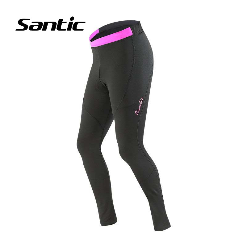 Santic Women Cycling Pants Winter Thermal Bike Pants Windproof Pantalon Ciclismo MTB 4D Padded Road Mountain Bicycle Trousers santic cycling pants road mountain bicycle bike pants men winter fleece warm bib pants long mtb trousers downhill clothing 2017