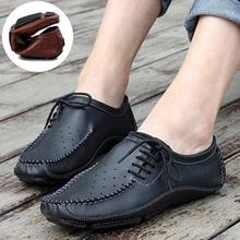 High Quality Summer Style Shoes For Men Genuine Leather Fashion Casual Soft Loafers Mocassins Driving Shoes New