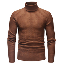 Sweater Pullover Men 2018 Male Brand Casual Slim Men Striped Sweater Knitted Sweater Hedging Turtleneck Men'S Sweater