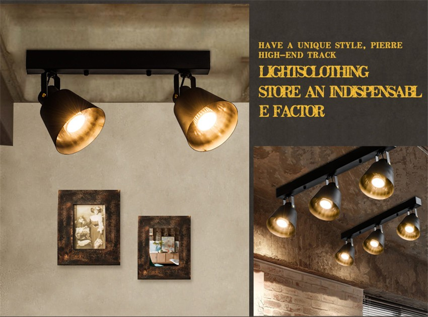 Plafoniere Led Vintage : Modern vintage lamp iron led ceiling lights for clothing store